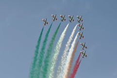 Frecce Tricolori air show pesaro Stock Photography