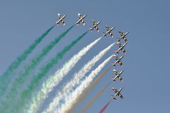 Frecce Tricolori air show pesaro Stock Photos