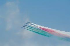Frecce Tricolori Airshow Obraz Stock