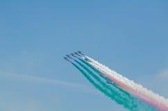 Frecce Tricolori Airshow Obrazy Stock