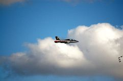 Frecce Tricolori - akrobatiskt lag för italienskt flygvapen Arkivfoton