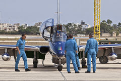 Frecce Tricolori Crew Stock Photography