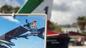 Frecce Tricolori on display royalty free stock image