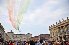 Frecce Tricolori (flechas tricoloras) Fotos de archivo