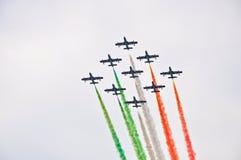 Frecce Tricolori (flechas tricoloras) Imagenes de archivo