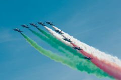 Frecce Tricolori Royalty Free Stock Photography