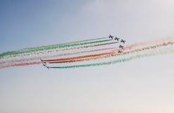 Frecce Tricolori. The Italian demonstration team Frecce Tricolori Stock Photography