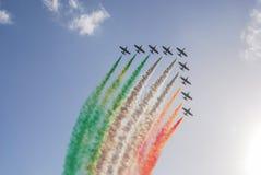 Frecce Tricolori. The Italian demonstration team Frecce Tricolori Stock Image