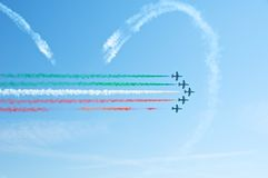 Frecce Tricolori, Pattuglia Acrobatica Nazionale Ι Στοκ φωτογραφίες με δικαίωμα ελεύθερης χρήσης