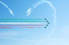 Frecce Tricolori, Pattuglia Acrobatica Nazionale i Стоковые Фотографии RF