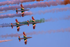 Frecce Tricolori - Radom Airshow - la Polonia Immagini Stock Libere da Diritti