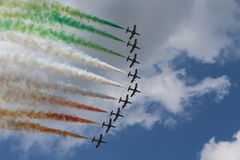 Frecce Tricolori air acrobatics team Royalty Free Stock Image