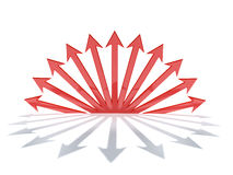 Frecce in un cerchio Fotografia Stock Libera da Diritti
