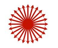 Frecce in un cerchio Fotografie Stock