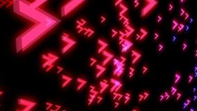 Frecce variopinte astratte su fondo nero contesto digitale illustrazione vettoriale
