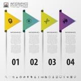 Frecce variopinte concetto infographic di cronologia Modello di disegno moderno Illustrazione di vettore Fotografia Stock Libera da Diritti