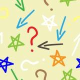 Frecce variopinte di tiraggio della mano, stelle a Immagini Stock Libere da Diritti