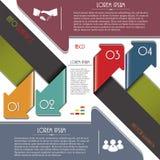 Frecce variopinte moderne per il modello di Infographics. Fotografie Stock