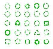 Frecce verdi del cerchio Fotografia Stock
