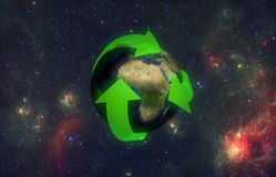 Frecce verdi della terra illustrazione di stock