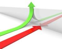 Frecce verdi e rosse Immagini Stock Libere da Diritti
