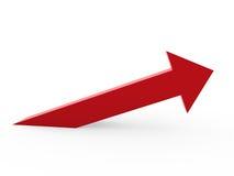 freccia 3d in su illustrazione di stock