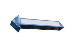 Freccia al neon Immagini Stock Libere da Diritti