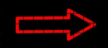 Freccia al neon rossa Fotografia Stock Libera da Diritti
