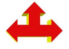 Freccia alta da sinistra a destra Fotografia Stock