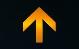 Freccia arancione Immagini Stock