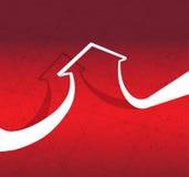 Freccia astratta per l'idea di concetto di affari illustrazione di stock