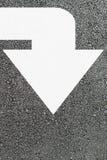 Freccia bianca Fotografie Stock