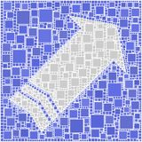 Freccia blu Fotografia Stock