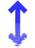 Freccia blu Immagini Stock