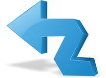 Freccia blu 3d Fotografia Stock Libera da Diritti