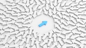 Freccia blu del capo, stante fuori dalla folla archivi video