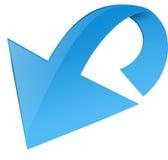 Freccia blu lucida Immagine Stock