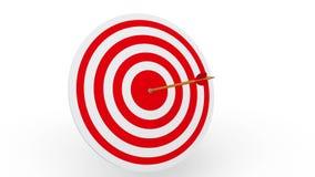 Freccia che colpisce un bordo dell'obiettivo illustrazione di stock