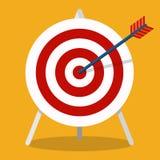 Freccia che colpisce un obiettivo Concetto di affari Icona isolata su backgr illustrazione di stock