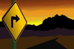 Freccia che indica le montagne Fotografia Stock Libera da Diritti