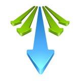 Freccia 3D Immagini Stock