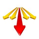Freccia 3D Immagine Stock Libera da Diritti