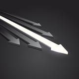 Freccia 3D Immagini Stock Libere da Diritti