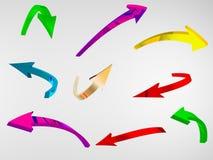 freccia 3D Fotografie Stock