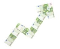 Freccia dei soldi Immagini Stock Libere da Diritti