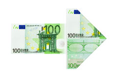 Freccia dei soldi Fotografia Stock