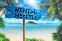 Freccia del bordo del segno di salute mentale immagine stock libera da diritti