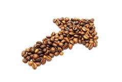 Freccia del caffè Immagini Stock Libere da Diritti