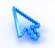 Freccia del calcolatore Immagini Stock