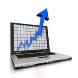 Freccia del computer portatile Fotografie Stock